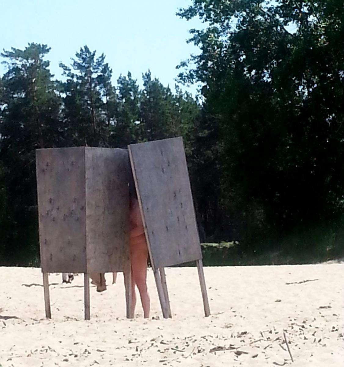 переодевания на пляже