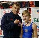 Тренер Андрей Рязанцев с сыном Андреем, ставшим бронзовым призером Первенства РФ по вольной борьбе