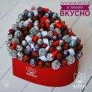 «Бархат» — это свежая флористика, вкуснейшая клубника в шоколаде, ароматные цветы и эксклюзивная упаковка