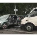 Стоп-кадр с видео на месте ДТП