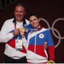 Чемпионка София Позднякова с отцом