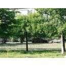 Чёрный матовый забор вокруг парка начали устанавливать в июле