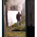 Пожарные потушили возгорание