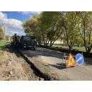 Идет ремонт дороги на ул. Спортивная в Бердске