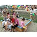 Детская площадка в Бердске построена на грант, полученный от губернатора