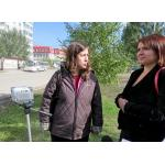 Доцент СибАДИ из города Омска Екатерина Семенова и начальник отдела транспортного обслуживания Бердска Надежда Нятина обследовали уличную дорожную сеть