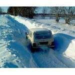 Люди не могут выбраться из снежного плена в Бердске