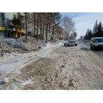 С парковок на ул. Ленина вывезена 2,5-метровая толща снега