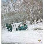 Перевернулся ВАЗ-2110 на подъезде к Бердску со стороны Искитима