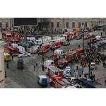 Пожарно-спасательные подразделения ликвидируют последствия ЧС в метрополитене Санкт-Петербурга