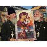 Бердский священник отец Василий и протоиерея Башкирской епархии отец Александр (справа)