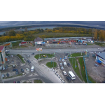Кадр с камеры видеонаблюдения, установленной у поста ГИБДД на выезде из Бердска