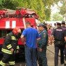 Сгорела столярка у школы №8 в Бердске