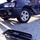 В Бердске трактор после удара в «Субару» развернуло на 180 градусов