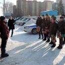 Песней «Катюша» студентки политеха и ГИБДД поздравили Бердск с 23 февраля