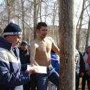 Видео. Покоряли ледяной столб  в Бердске в день Масленицы
