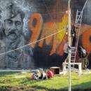 Граффитисты украсили Победным рисунком трансформаторную будку у Мемориала Славы в Бердске