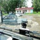 Воскресный ливень в Бердске затопил часть города, пройдя странной полосой