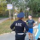Видео. 19-летний мотоциклист без прав сбил лыжероллера в парке Победы в Бердске