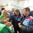 Хлебом-солью на рынке Бердска встречали городское и областное руководство
