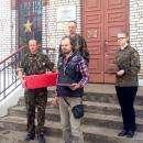 Бердчанин Виталий Суборов забрал останки прадеда и еще двоих неизвестных солдат и везет их на захоронение домой