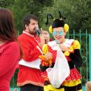 Культорганизатор ГДК Кристина Голикова в ростовом костюме пчелы