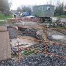 Второй провал коллектора на ул. Рогачева в Бердске