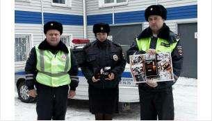 Инспекторы ГИБДД - участники акции памяти жертв ДТП
