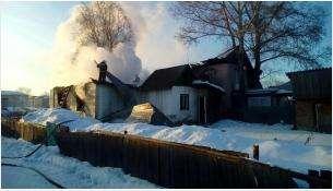 Трое пьяных сгорели на пожаре в Черепаново