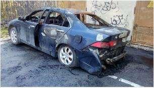 Горел автомобиль Хонда Аккорд во дворе дома по адреу: ул. К.Маркса, 21