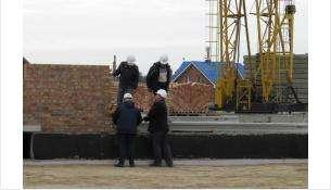 Строящаяся школа в микрорайоне Южный в Бердске