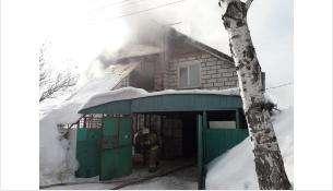 Пожар начался с кухни