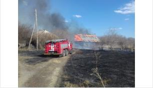 Пал травы едва не уничтожил целый поселок: около 400 домов в Тогучинском районе