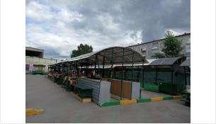 На рынке пустуют оборудованные места для торговли огородным урожаем