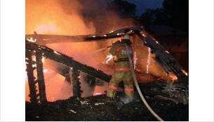 Пожар тушили около двух часов