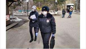 По всей области полицейские отслеживают, как граждане соблюдают меры безопасности