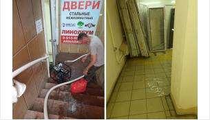 Затопило нулевой этаж ТЦ «Европа» в Бердске