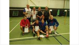 Призовые места получили бердские бадминтонисты в турнире среди ветеранов