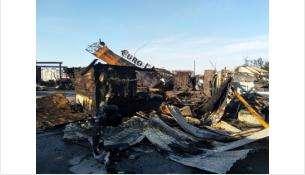 Место происшествия после пожара