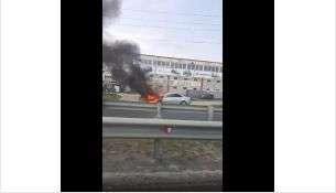 Автомобиль загорелся утром, 25 июля