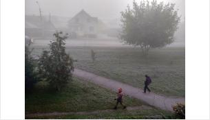 Туман покрыл город молочной дымкой