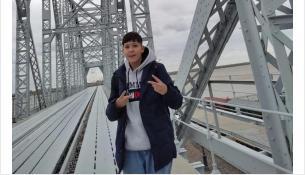 Никита на мосту в Хабаровске