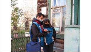 Переписчик Никита и куратор Людмила впервые внесли в планшет данные о жителях Бердска