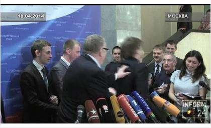 Церковь призвала Жириновского покаяться за инцидент с журналистками