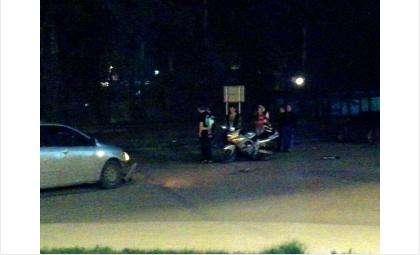 "Ночью у ""Астора"" сбили мотоциклиста"