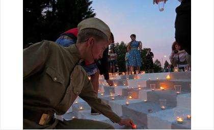 """Из горящих свечей 22 июня выставляют в Бердске слово """"Помним"""""""