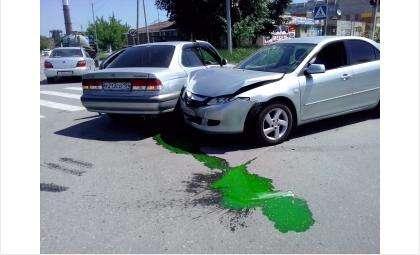 Из автомобиля после ДТП вытекли технические жидкости