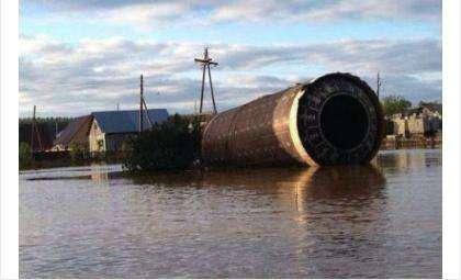 Часть ракеты прибило наводнением к одному из сел на Алтае. Фото: Сергей Илл