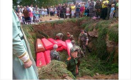 Захоронение останков солдат времен ВОВ в городе Белом Тверской области