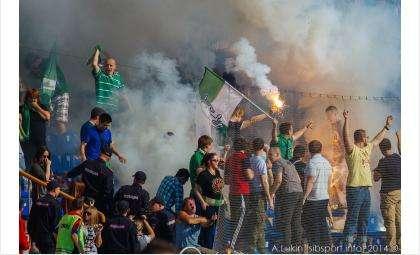 Погром на стадионе Спартак в Новосибирске